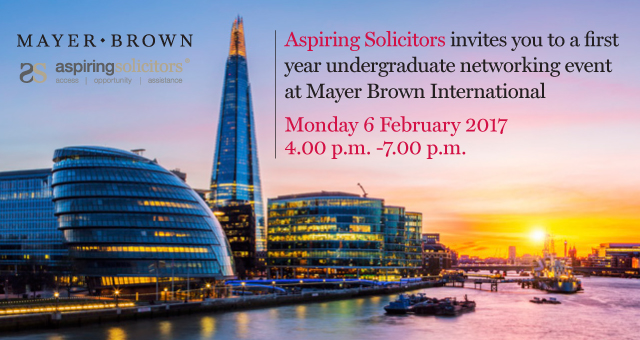 Aspiring Solicitors and Mayer Brown First Year Event