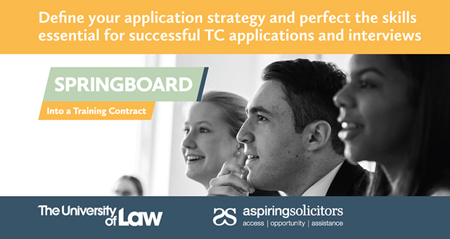 Springboard – hone your application and interview skills!
